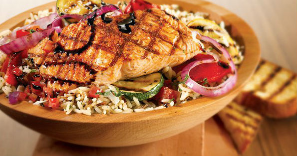 California Bowl with Grilled Salmon