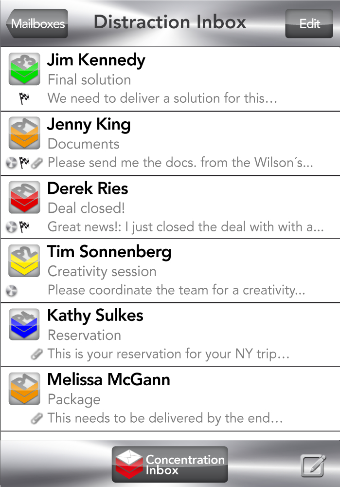 eRank-Distraction Inbox Interface-3of6