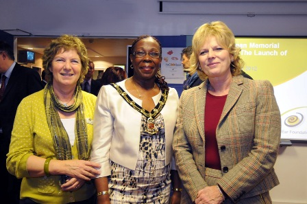 Chief Executive Sue Archbold with Sherriff of Nottingham and Anna Soubry MP
