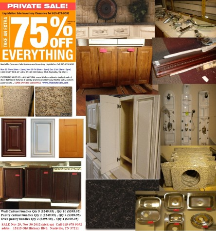 Liquidation Estate Sale Tennessee Partners With Kitchen Cabinet