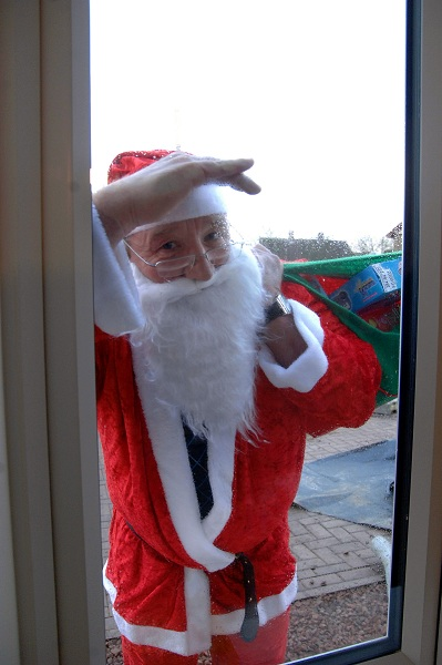 Santa visits Miller Homes in Pontefract