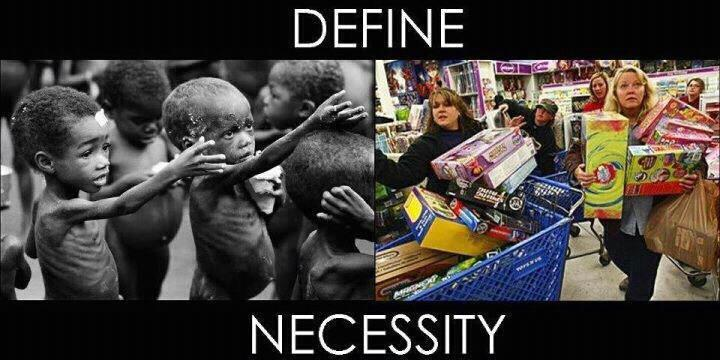 Define Necessity ~ During the holiday season