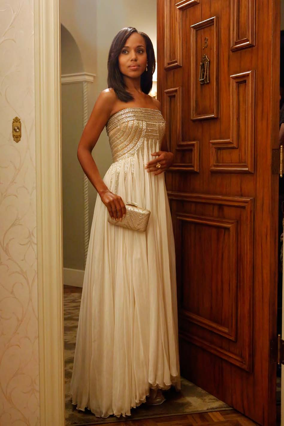 Kerry Washington as Olivia Pope in Jean Fares Couture