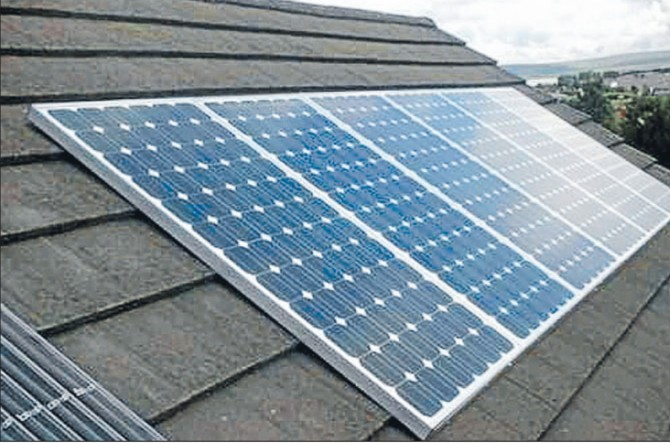 solar panels on shingles