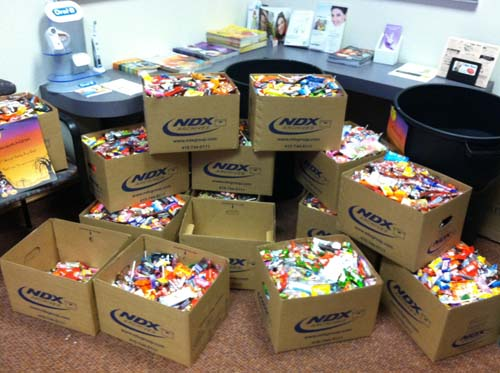 NDX Group Ships More than 1,500 Pounds of Treats for the Troops