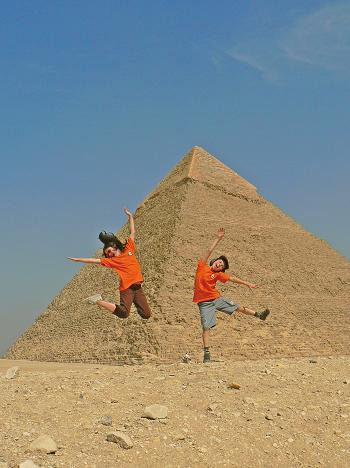 Kids love the pyramids!