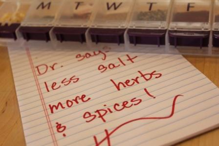 Less Salt - More Herbs and Spices