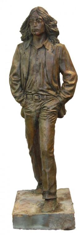 Bronze sculpture of John Lennon