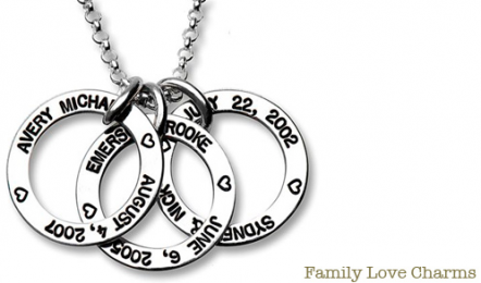 Personalized necklaces for mom kids or grandma in time for Jewelry for mom for christmas
