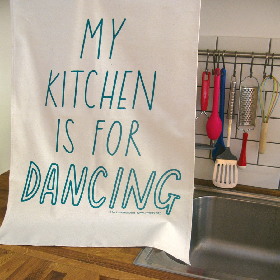 Kitchen Dancing Tea Towel