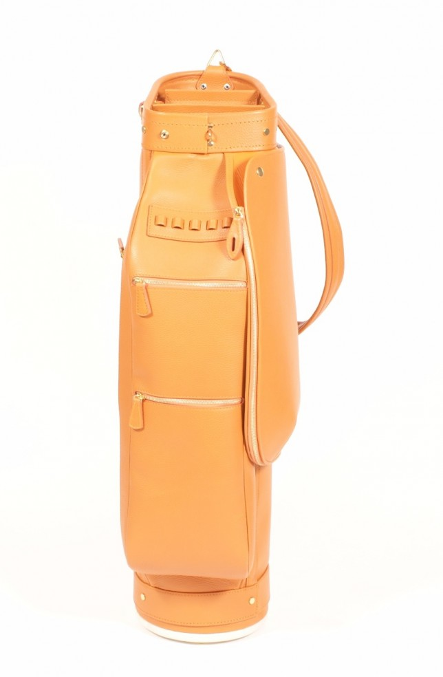 Luxury Golf Leather Bag Orange Claf (1)