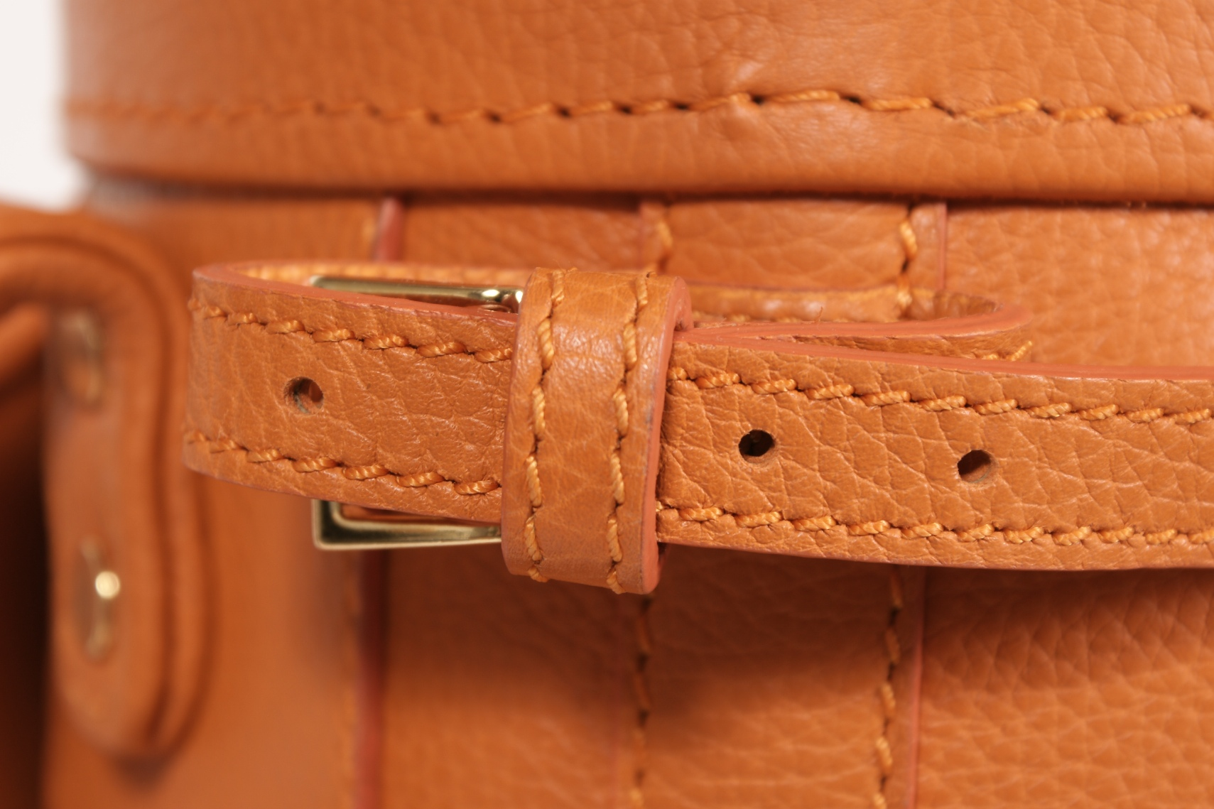 Luxury Golf Leather Bag Orange Claf (10)
