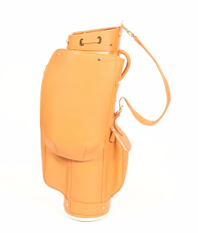 Luxury Golf Leather Bag Orange Claf (3)
