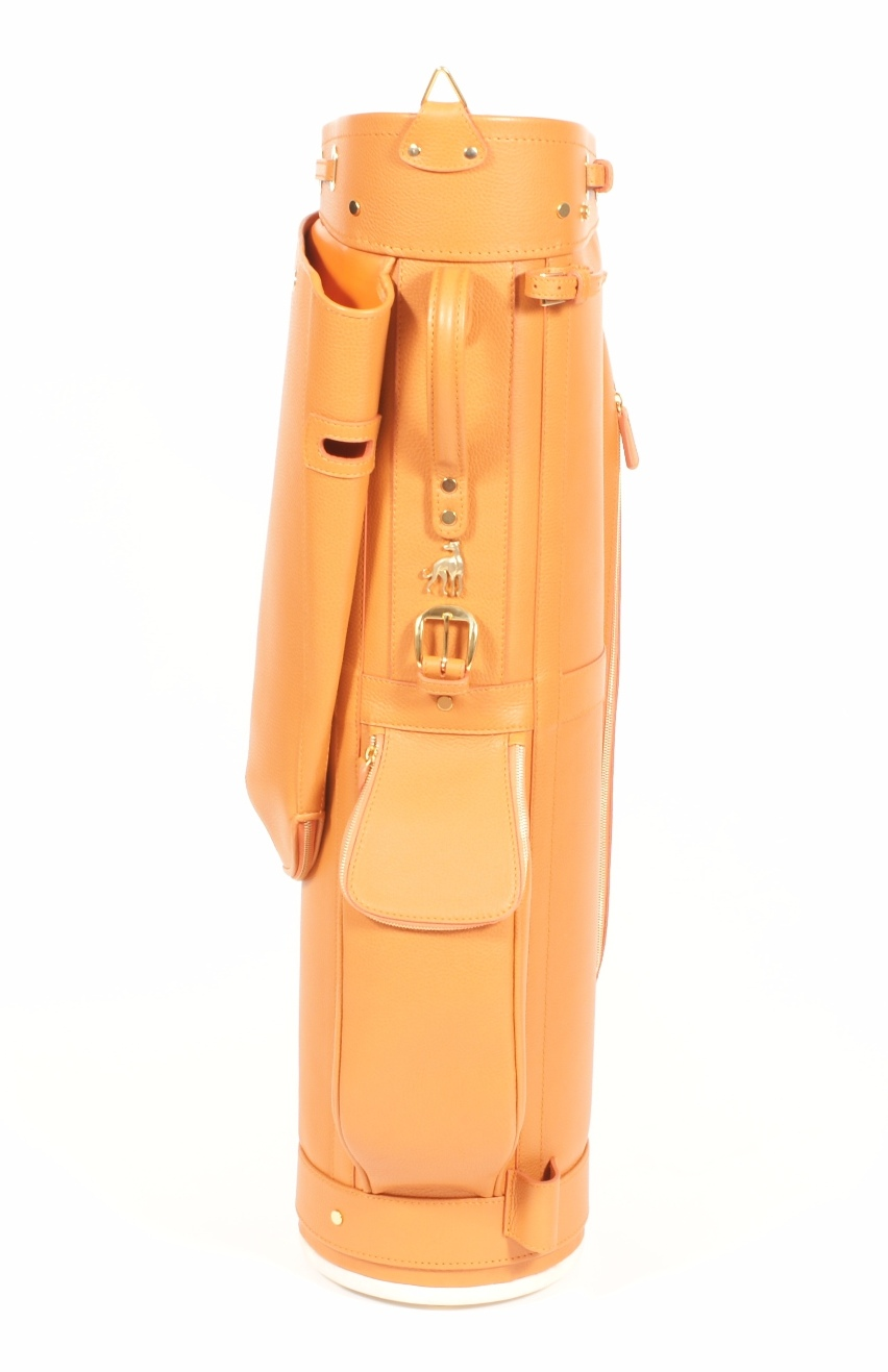 Luxury Golf Leather Bag Orange Claf (6)