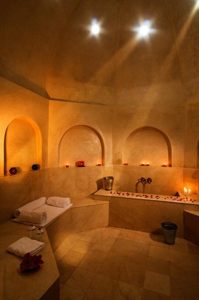 The luxurious hammam at Rebali