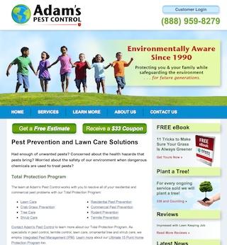 New Adam's Pest Control Website