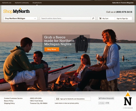 ShopMyNorth.com shows off Northern Michigan's lifestyle.