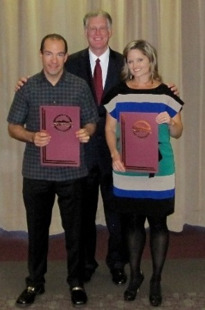 Ted Pretty, Mayor Andy Hafen and Heidi Hayes