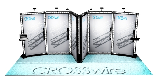 CROSSwire Modular Exhibition Stands from 200m2