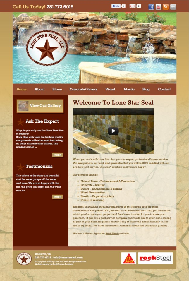 Lone Star Seal Website.
