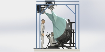 Rendering of the Christie DualView Concept, on display at booth #2549, I/ITSEC