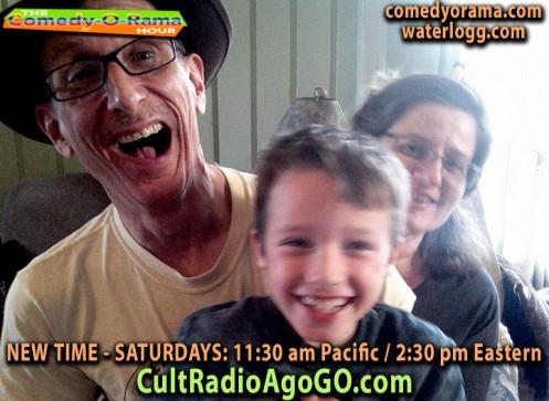 New Comedy-O-Rama Saturday 2:30 pm ET - listen online for free at cultradioagogo