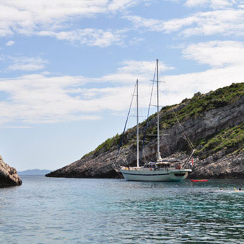 A luxury gulet charter is an ideal way to tour the coastline of Croatia.