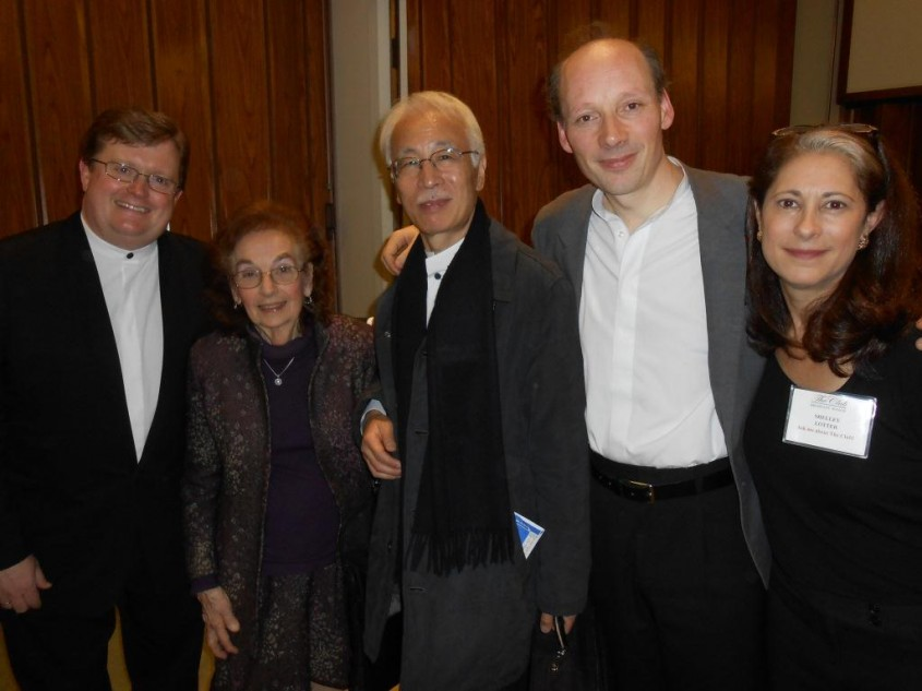 Post concert reception for the Tokyo String Quartet