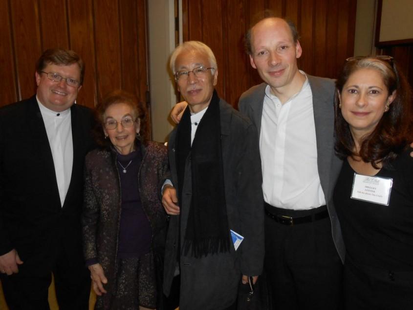 Post concert reception for the Tokyo String Quartet