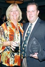 2012 Awards Winners Becky Bowles and Frank Alvarez Photo by Ken Rambo