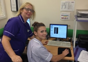 Joanne Roebuck and Abigail Burrows at the Rotherham NHS Diagnostic Centre.