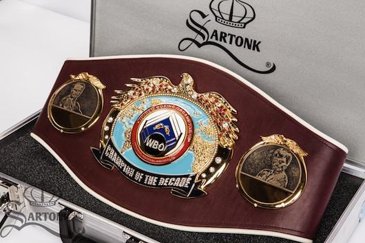 SARTONK and WBO's Champion of the Decade Belt