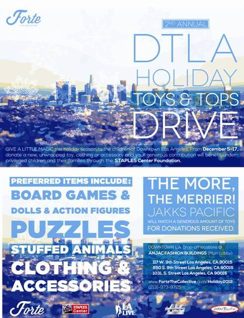 DTLA Holiday Toys & Tops Drive
