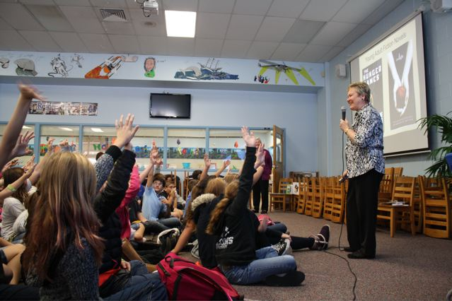 Students participating in a presentation at Old Kings Elementary School.