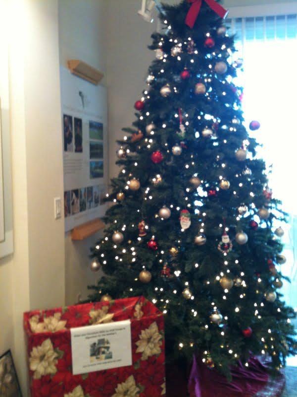 Troops in Afghanistan Box Under the Christmas Tree at Grand Haven Realty.