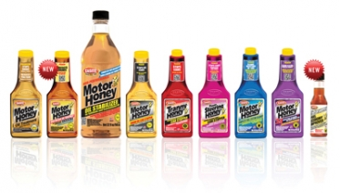 Casite Motor Honey products  in the company's new packaging with new labels