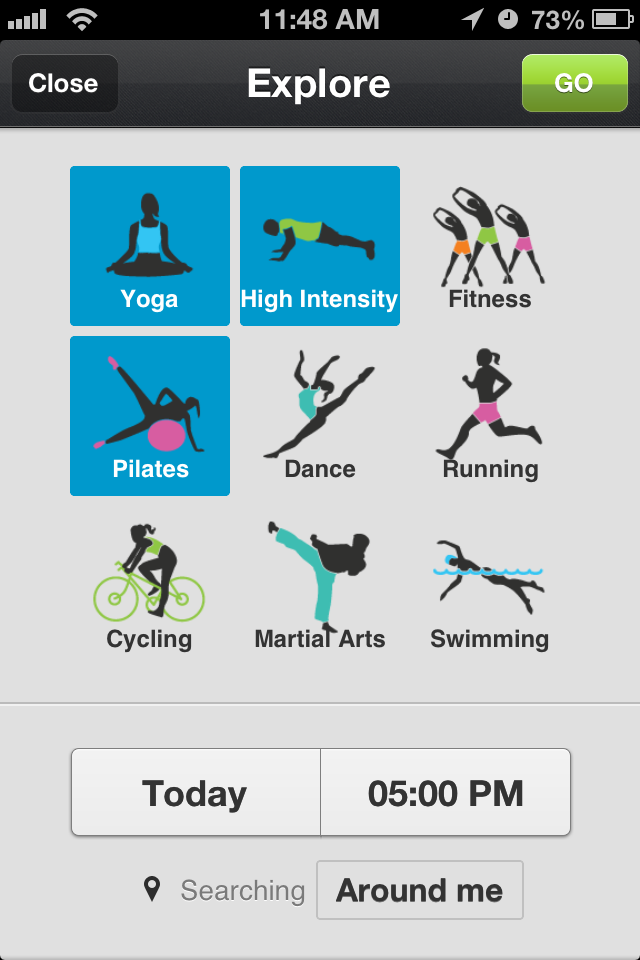 Select your favorite activities for your exercise DNA.