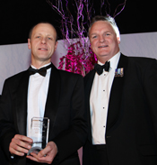 Alistair Millar, partner at Tallents Solicitors accepts the award