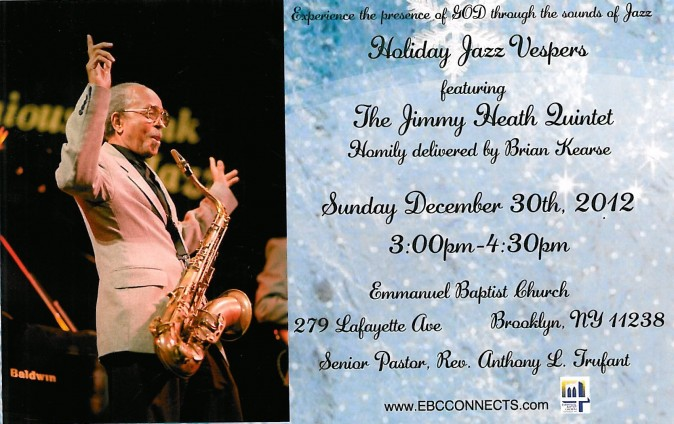 Jimmy Heath flyer