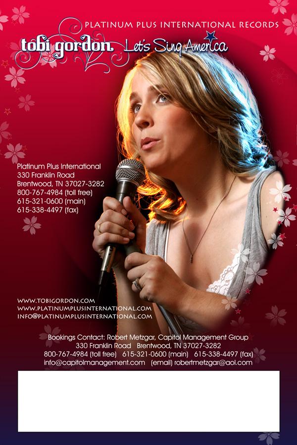 Tobi Gordon Concert Poster