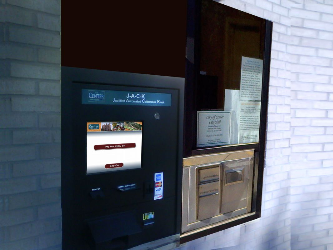 Bill Payment Kiosk - (JACK) Center, TX - Water Utilities Department - Drive up