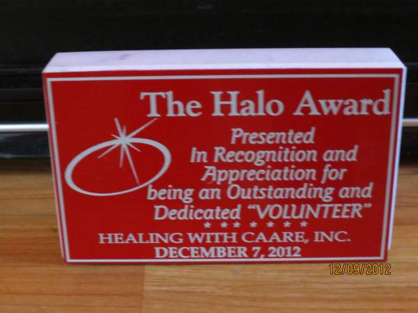 Halo Award presented to Beverly Mahone