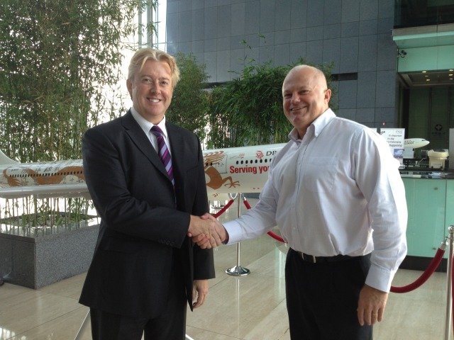 Lee Woodward Director CTC Aviation & Mike Kitney Chief Pilot Dragonair