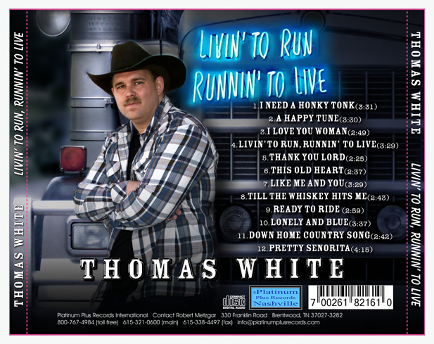 Living To Run Back Cover