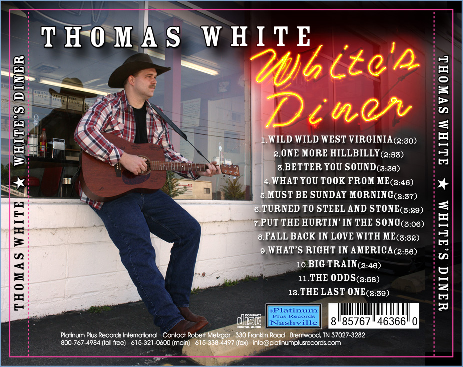 White's Diner Back Cover