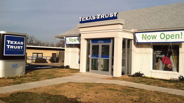 Texas Trust Credit Union's newest branch in historic downtown Mansfield