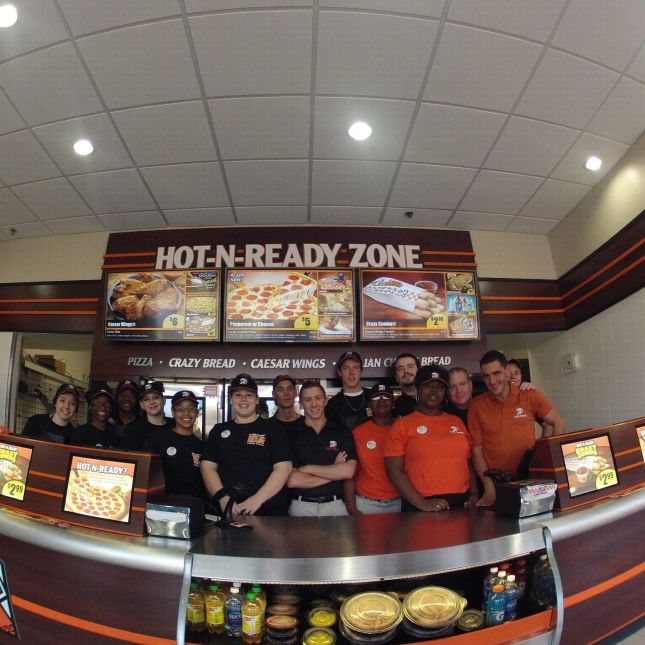 The Little Caesars of Roxboro staff is full of smiles