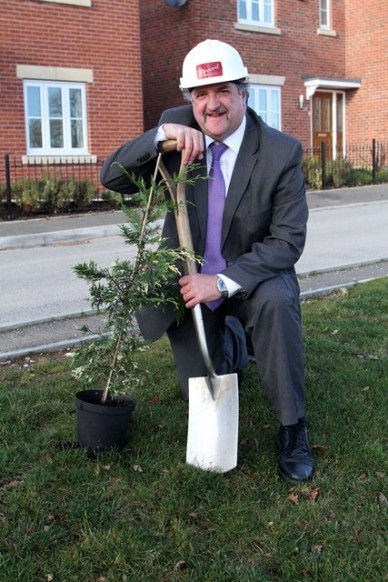 Colin Wright from Peveril Homes plants for the future