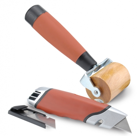 Boom Mat Installation Tools - Blade Lock Knife & Installation Roller