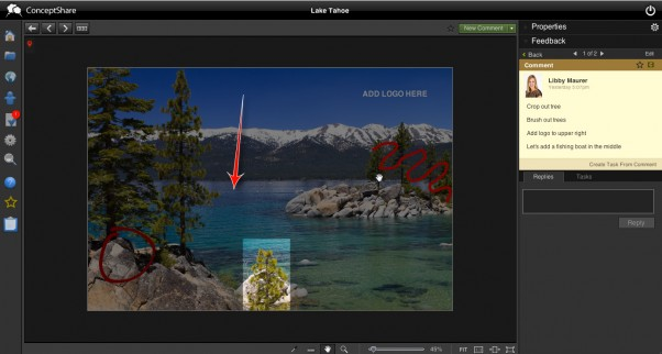 Assets can now be sent easily between ConceptShare and Media Collective DAM.